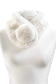 Gift Craft Furry Pompom Scarf - Product Mini Image