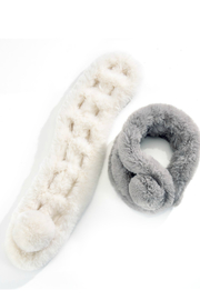 Gift Craft Furry Pompom Scarf - Side cropped