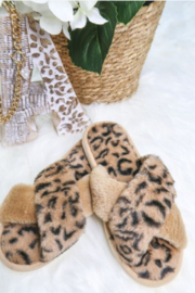 Petunias of Naples Furry Slippers - Front cropped