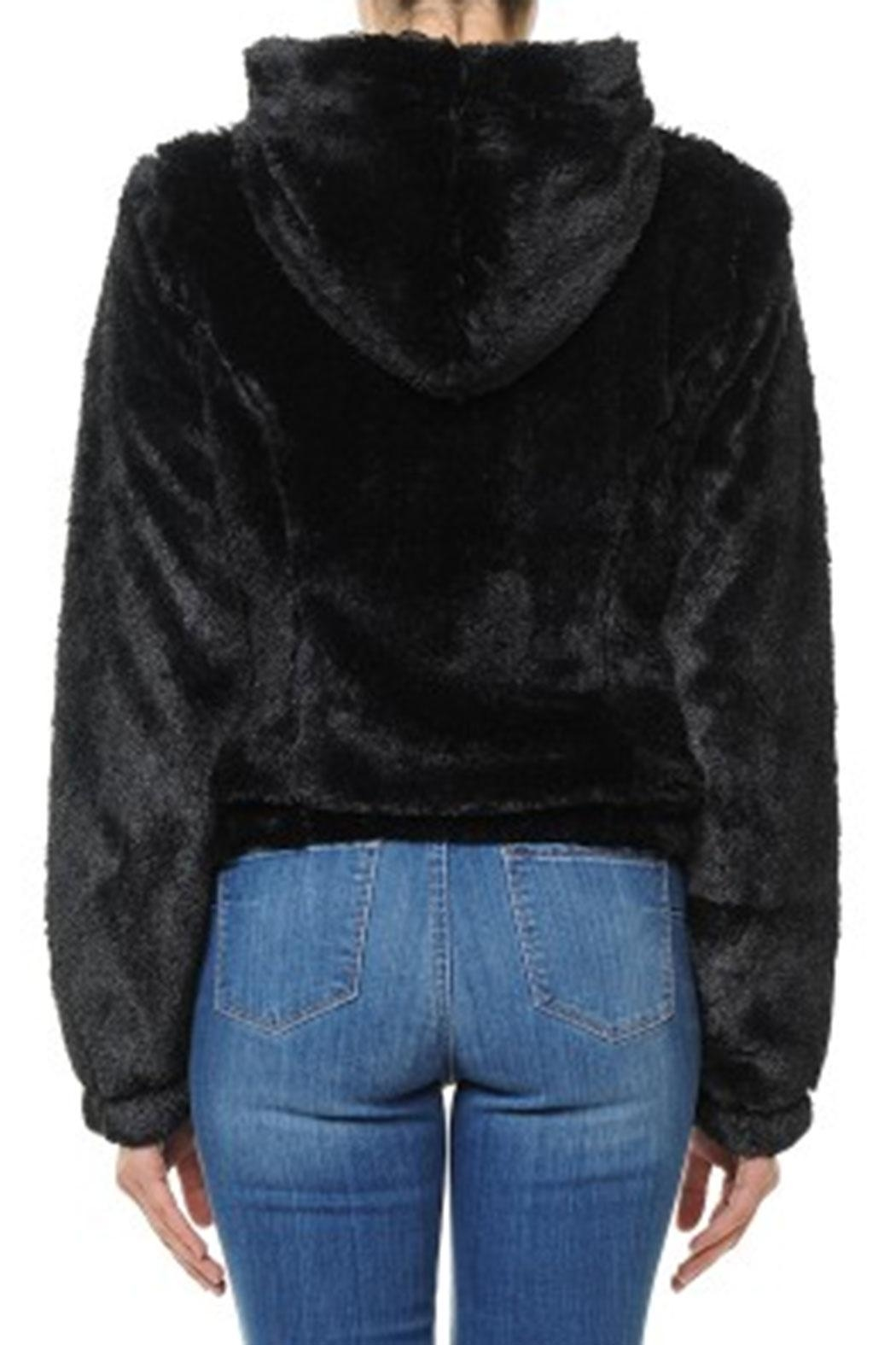 ambiance apparel Furry Zip-Up Hoodie - Side Cropped Image