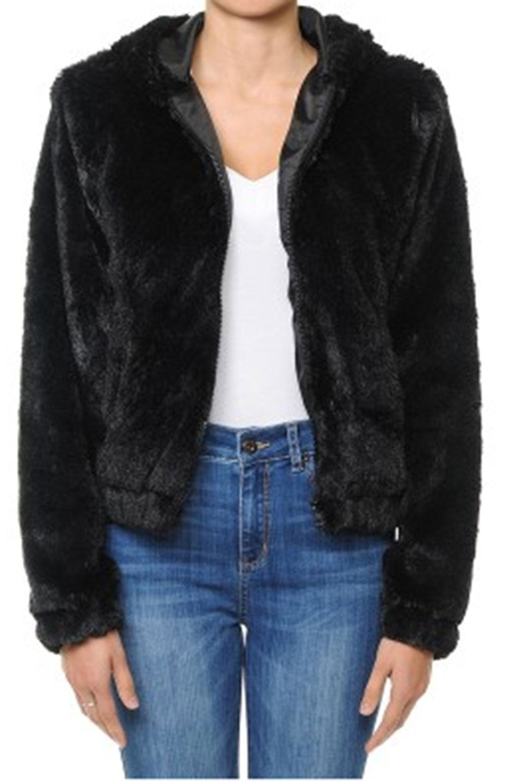 ambiance apparel Furry Zip-Up Hoodie - Main Image