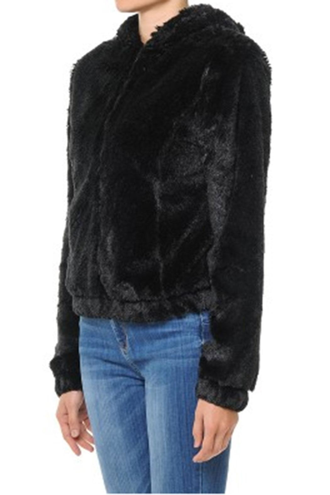 ambiance apparel Furry Zip-Up Hoodie - Front Full Image