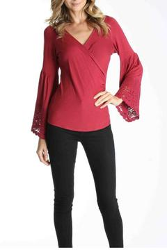 Fushia Wrap Top - Alternate List Image