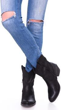 Shoptiques Product: Black Cowgirl Booties