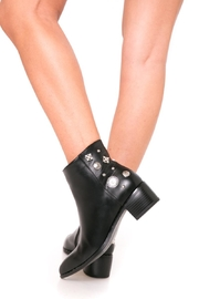 Fuzzi Decorated  Rivets Booties - Front cropped