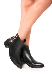 Fuzzi Decorated  Rivets Booties - Back cropped