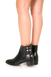 Fuzzi Decorated  Rivets Booties - Front full body