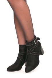 Fuzzi Elegant Rivets Booties - Front cropped