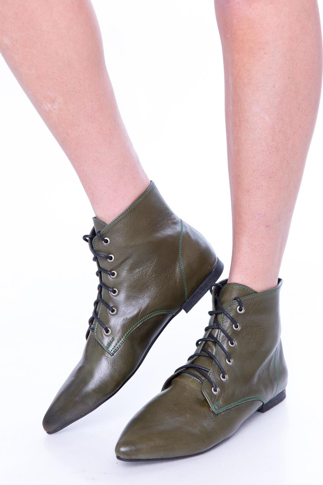 Green Oxford Booties