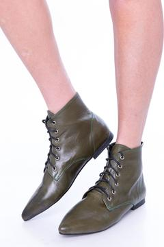 Shoptiques Product: Green Oxford Booties