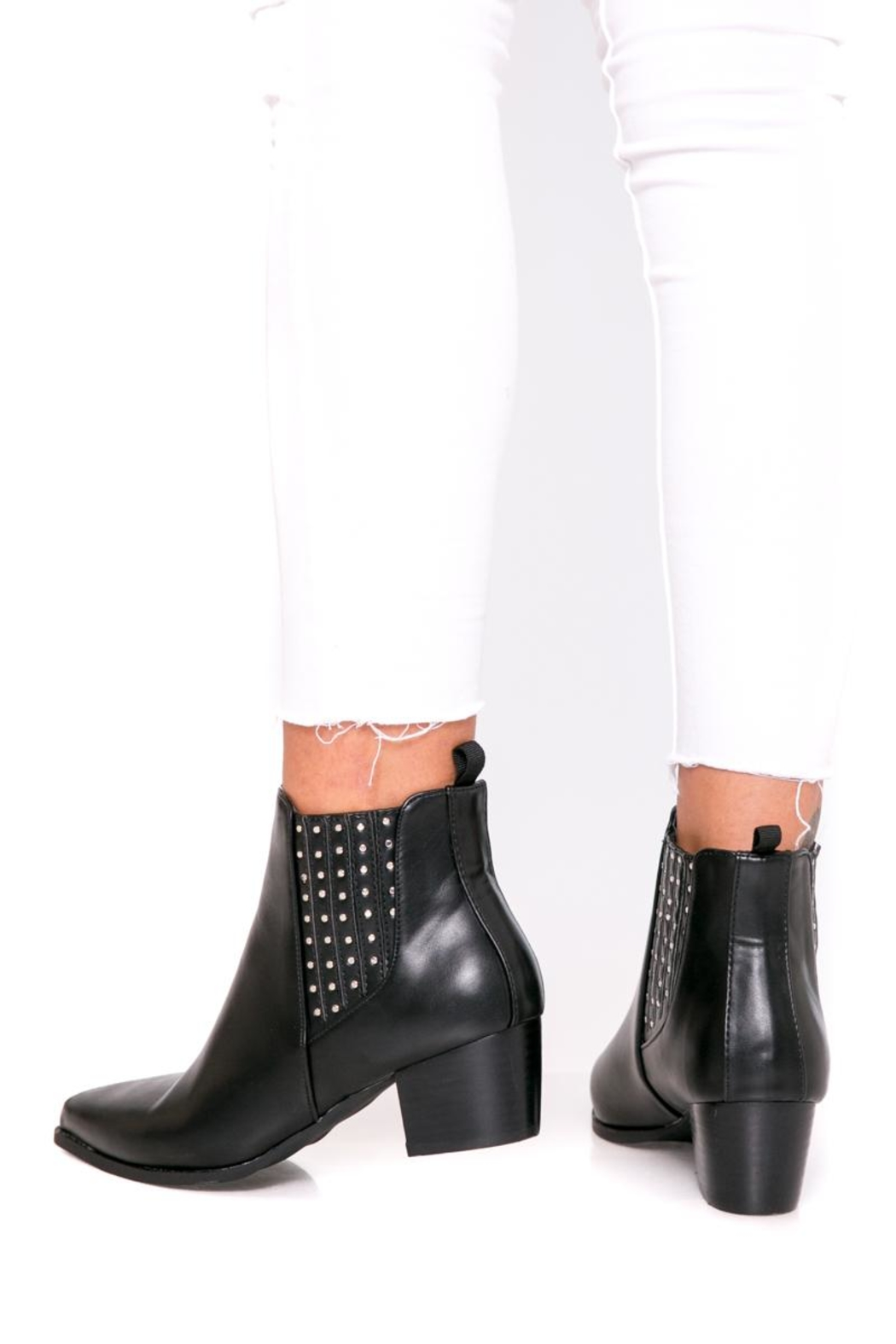 Fuzzi Ruber & Rivets Booties - Front Cropped Image