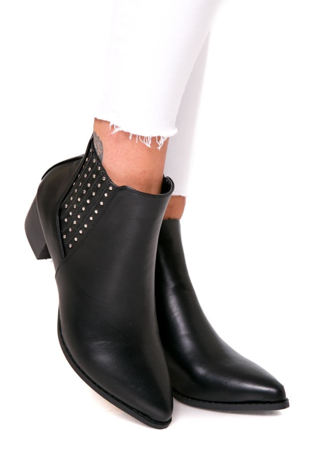 Fuzzi Ruber & Rivets Booties - Back Cropped Image