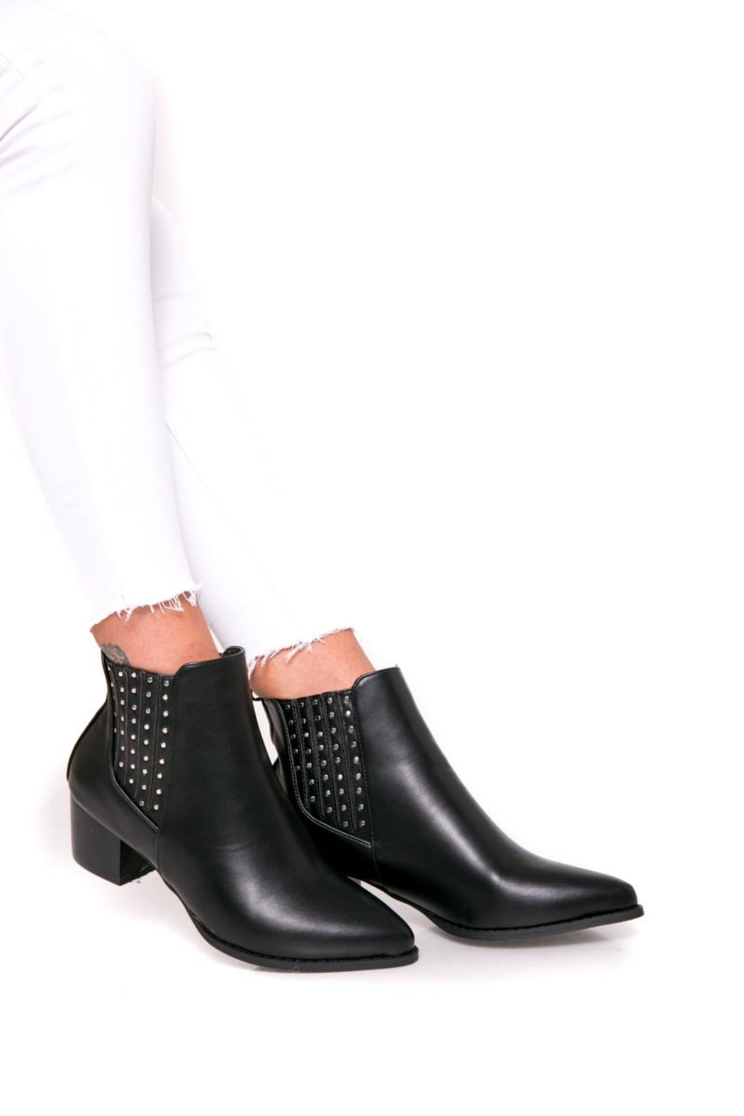 Fuzzi Ruber & Rivets Booties - Side Cropped Image