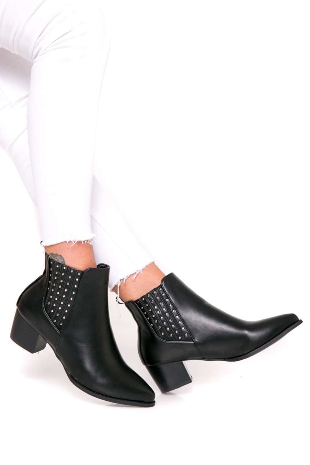 Fuzzi Ruber & Rivets Booties - Front Full Image