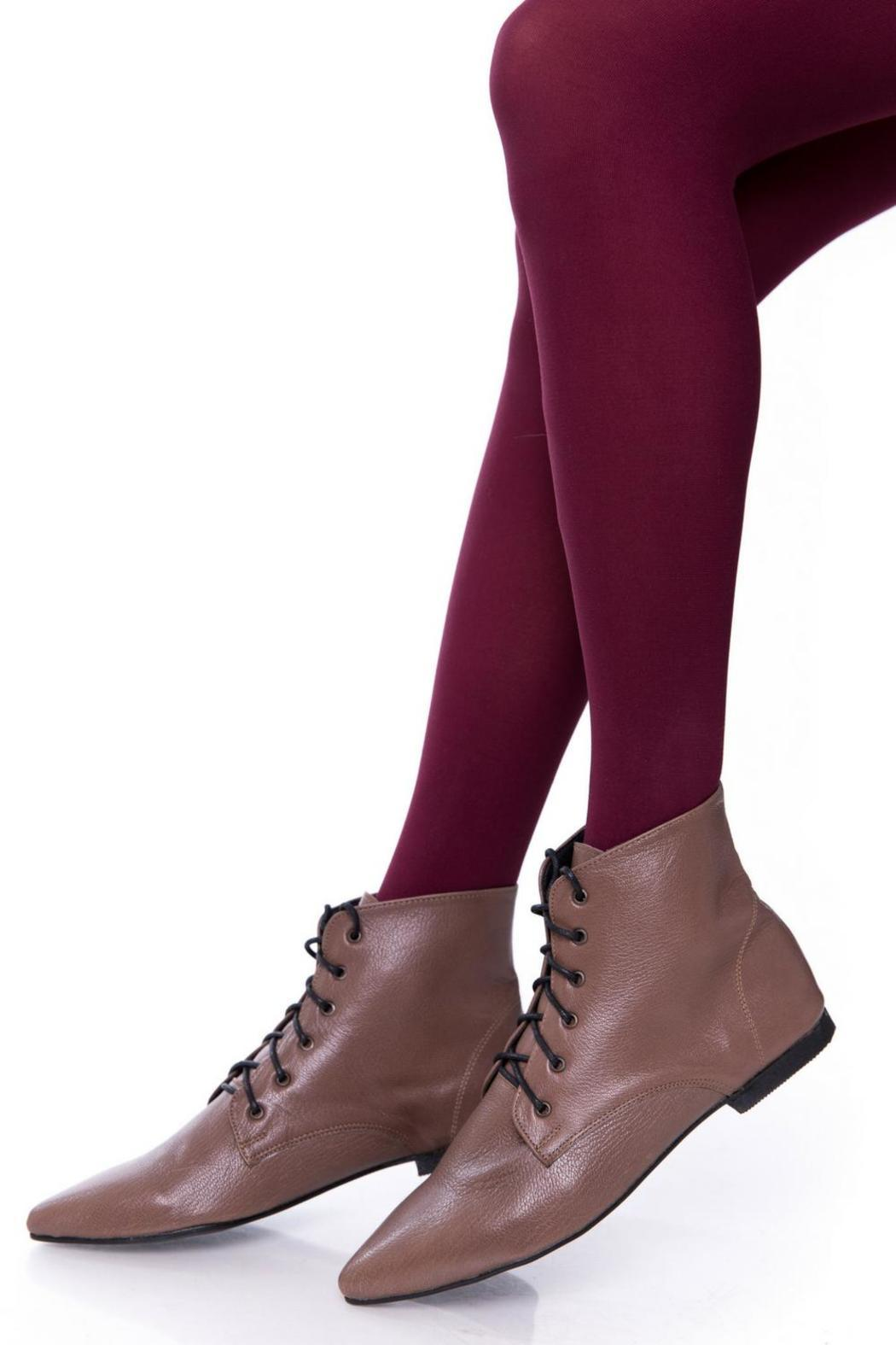 Taupe Oxford Booties