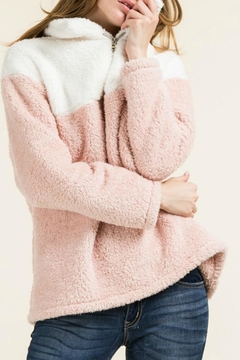 Shoptiques Product: Fuzzy 1/4-Zip Pullover