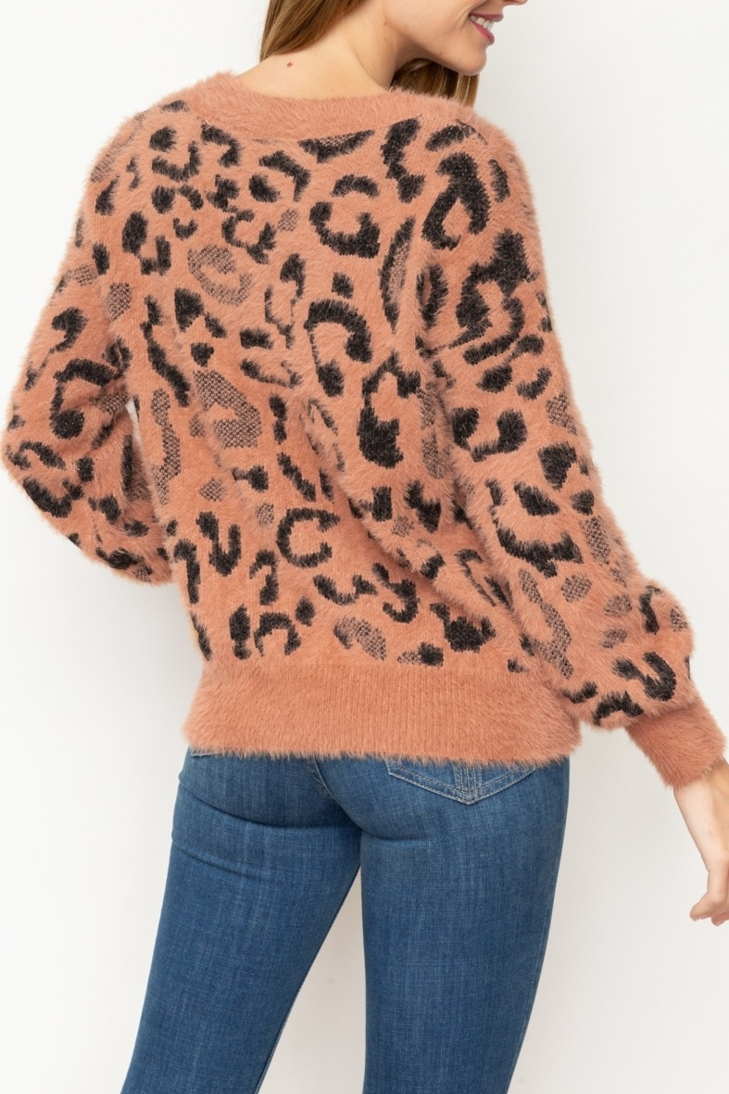 Mystree Fuzzy Animal Pullover - Front Full Image
