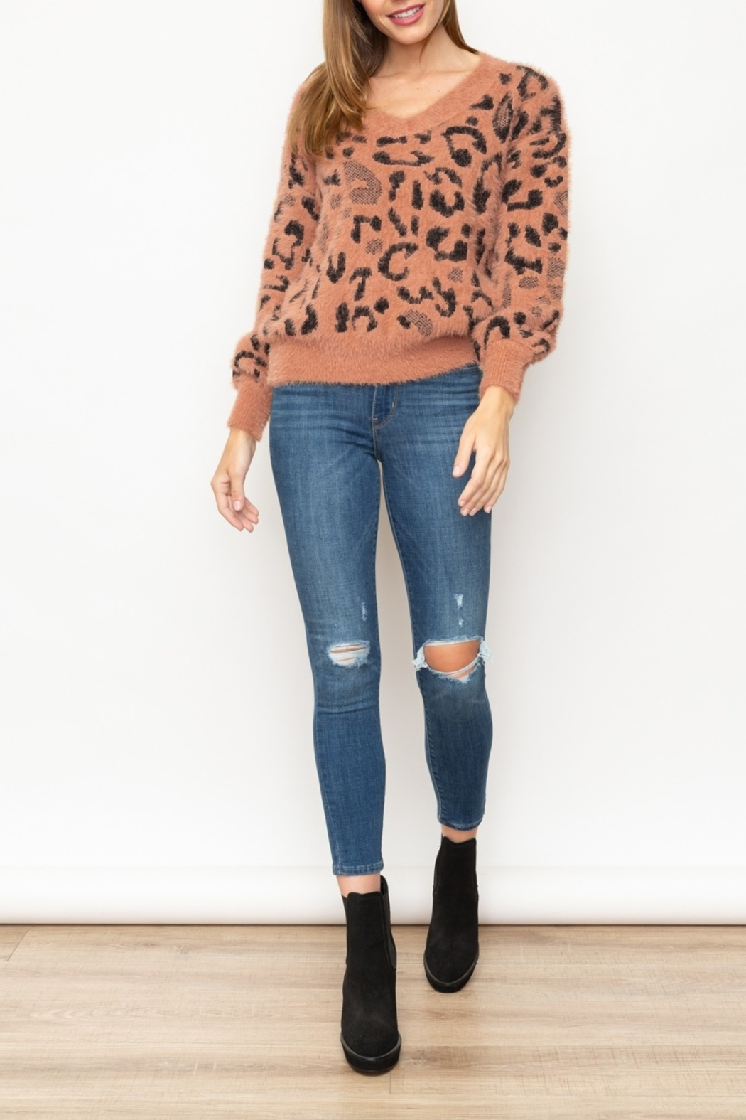 Mystree Fuzzy Animal Pullover - Side Cropped Image