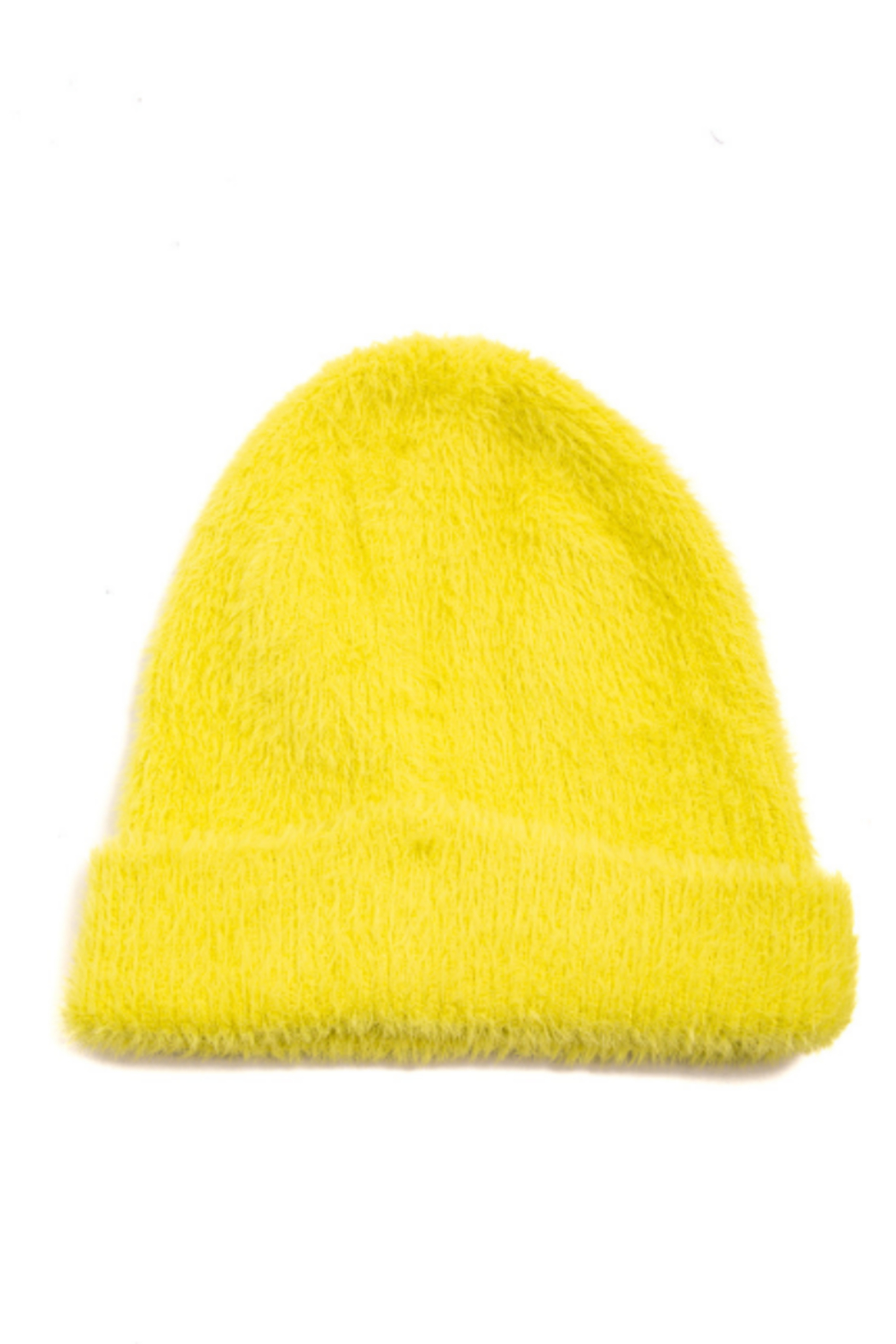 FAME ACCESORIES Fuzzy Beanie - Front Cropped Image