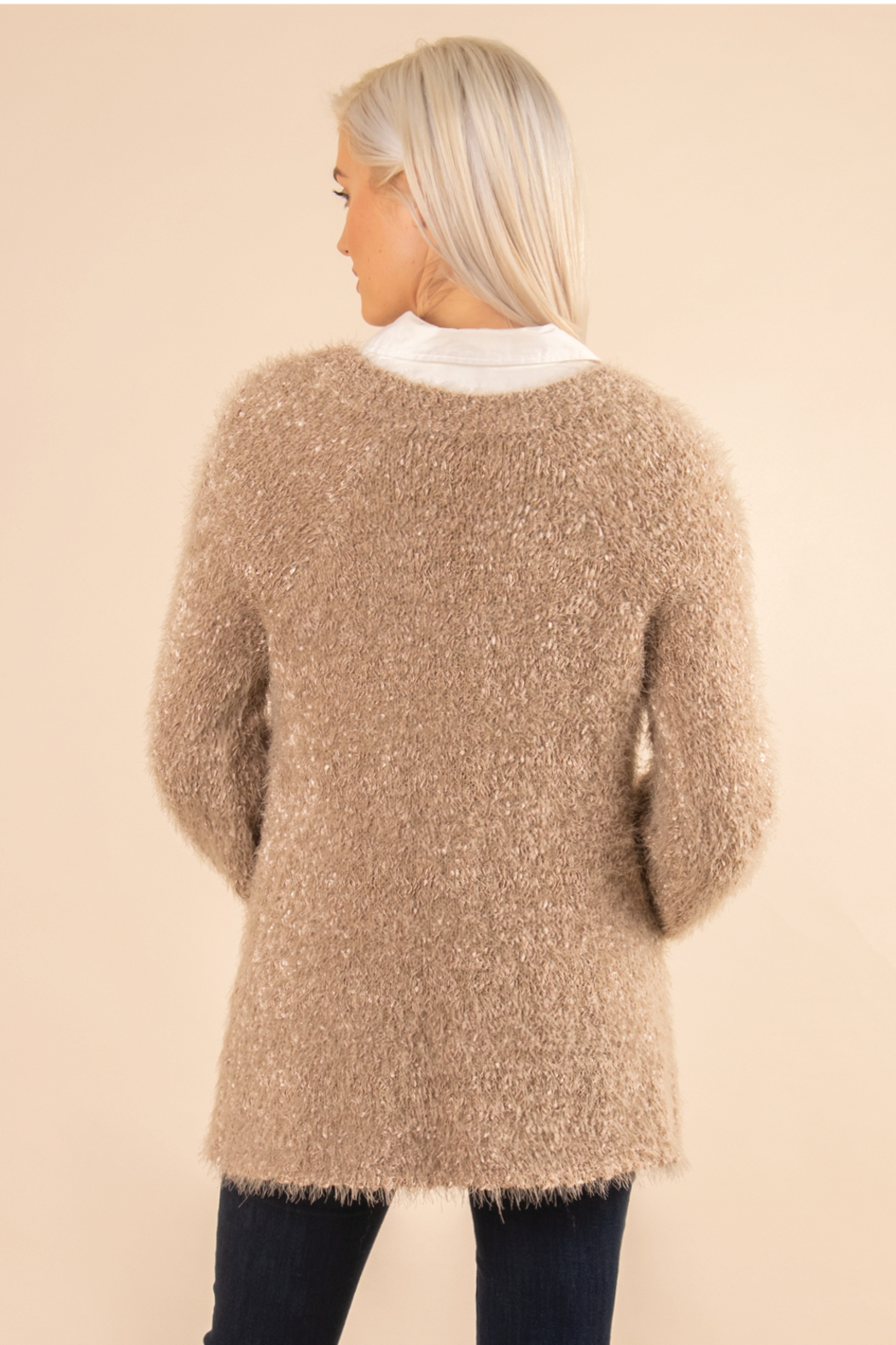 Simply Noelle Fuzzy Bear Sweater - Front Full Image