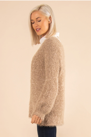 Simply Noelle Fuzzy Bear Sweater - Side cropped