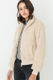 Love Tree  Fuzzy Bombe Jacket - Front full body