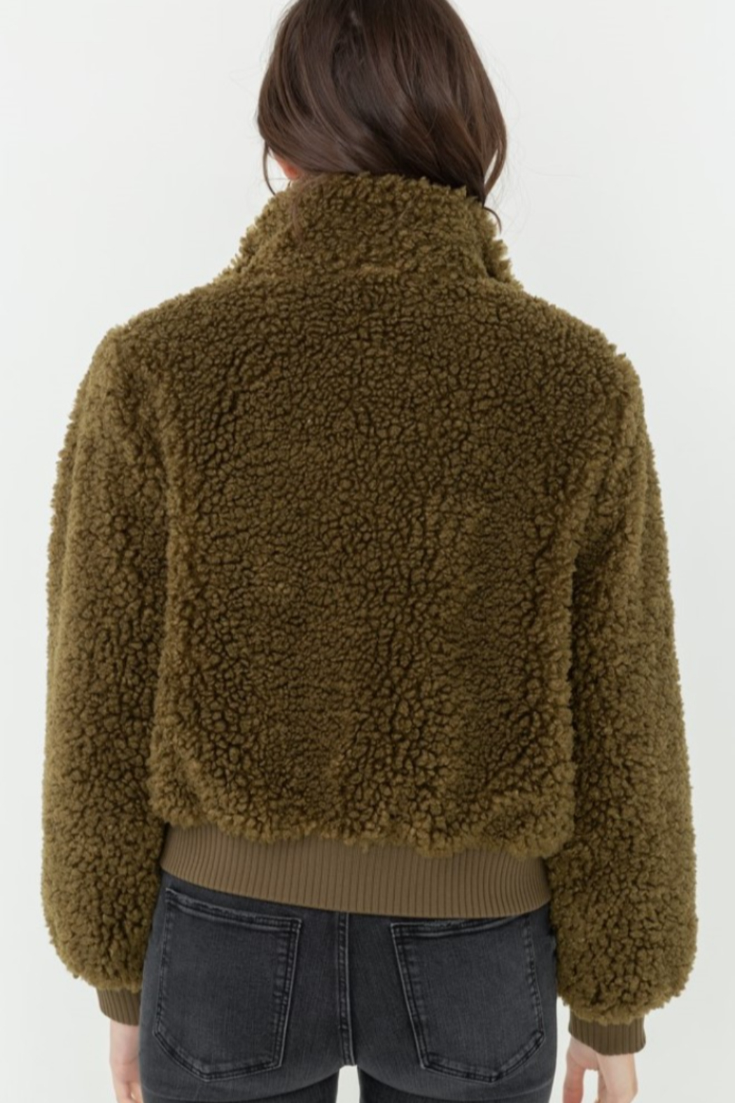 Love Tree  Fuzzy Bombe Jacket - Side Cropped Image