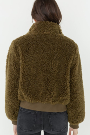Love Tree  Fuzzy Bombe Jacket - Side cropped