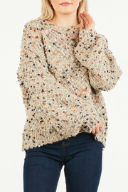 LoveRiche Fuzzy cable knit sweater - Product Mini Image