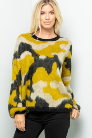 Sweet Lovely Fuzzy Camo Pullover - Product Mini Image