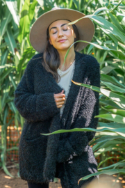 Lovestitch  Fuzzy Cardi - Front cropped
