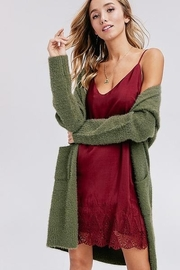 Hyped Unicorn Fuzzy Cardigan - Front cropped