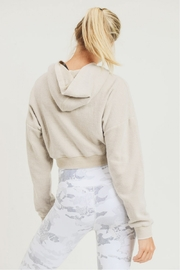 Mono B Fuzzy Cropped Hoodie Pullover - Back cropped