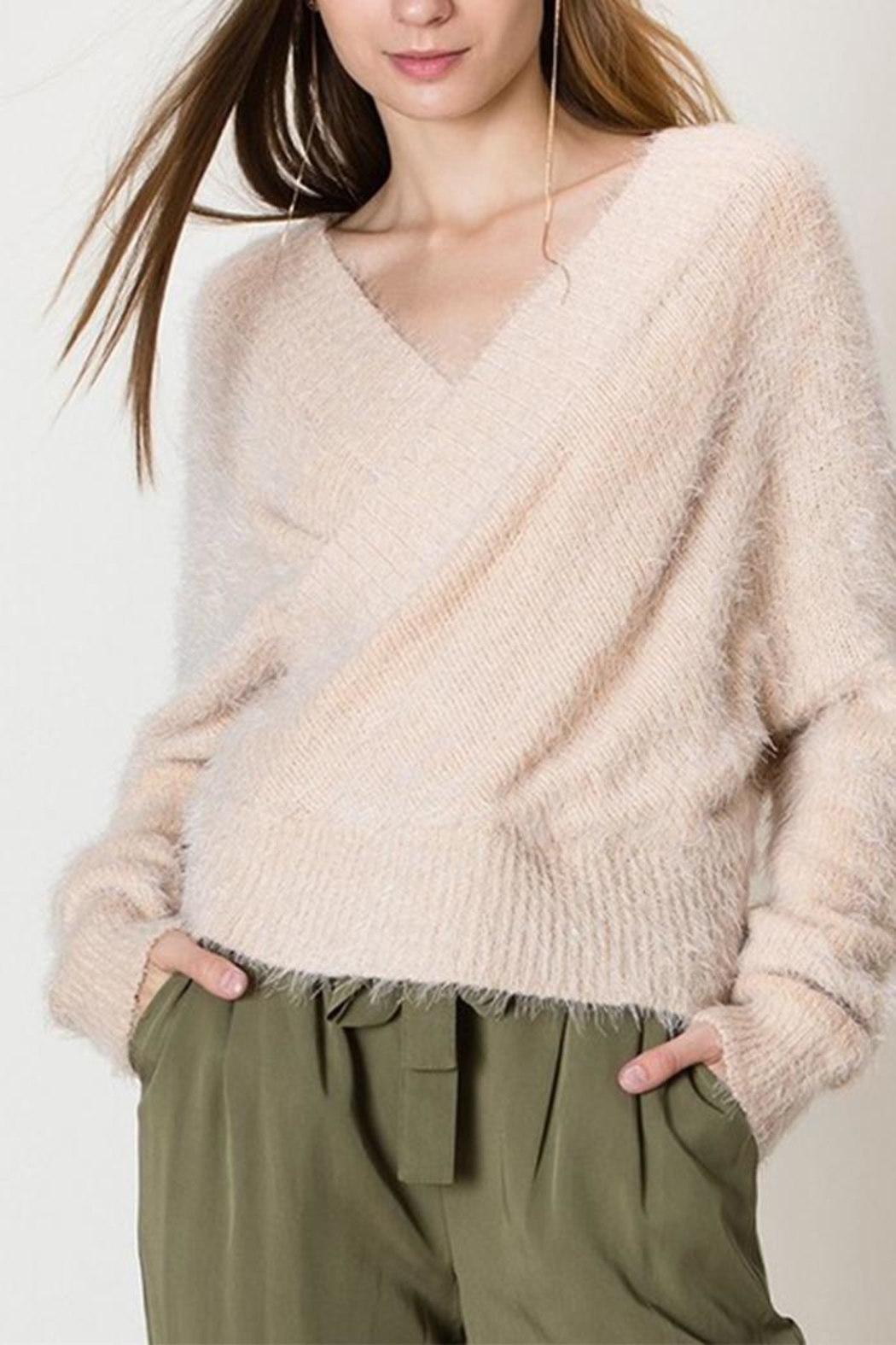 HYFVE Fuzzy Crossover Sweater - Main Image