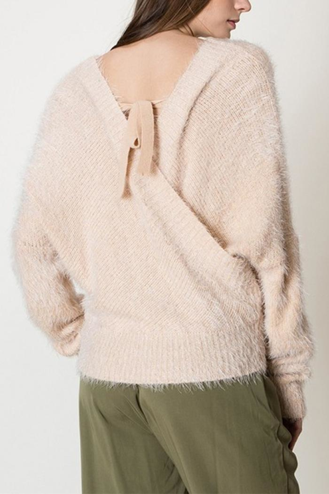 HYFVE Fuzzy Crossover Sweater - Front Full Image