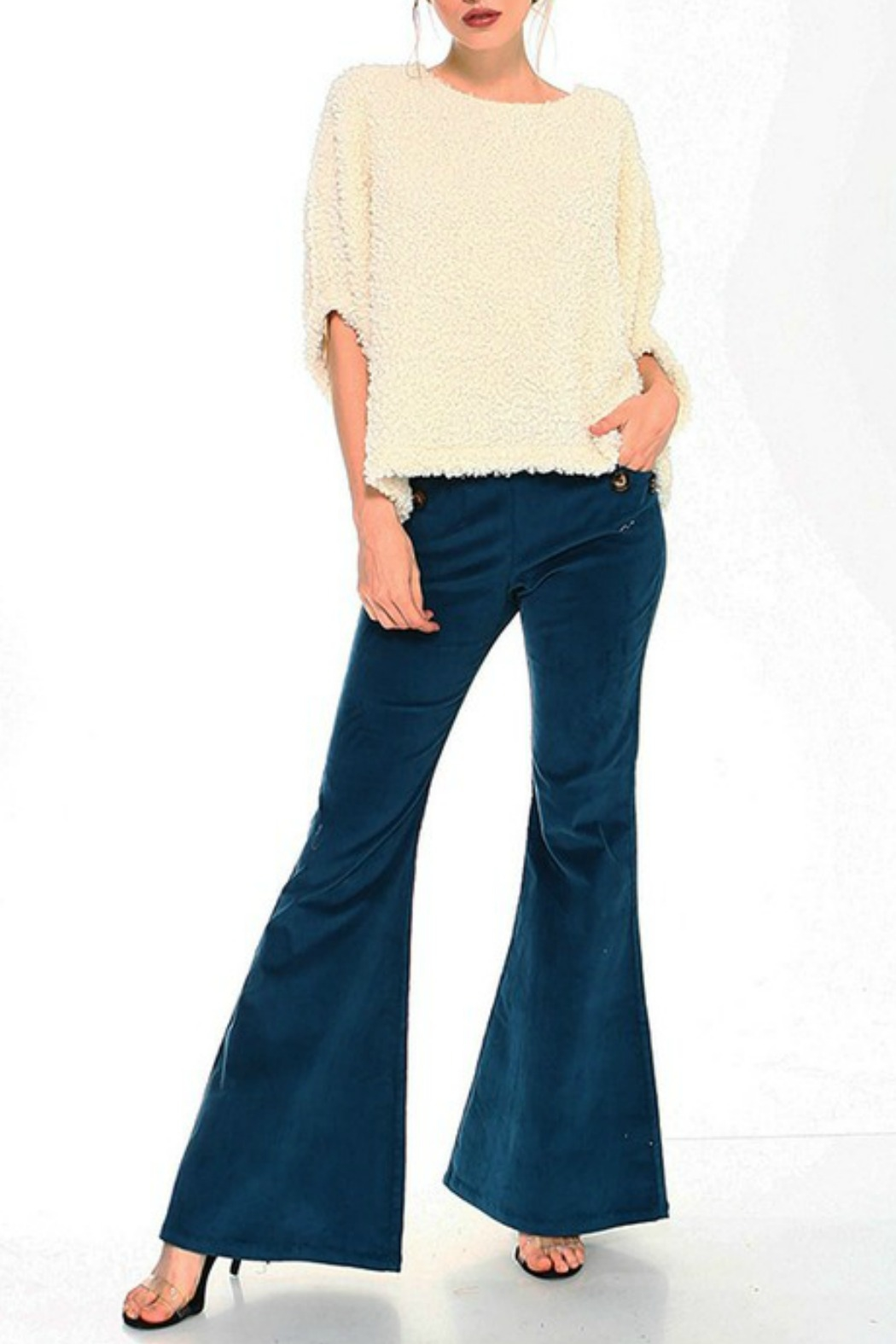 TCEC Fuzzy Dolman Sweater - Side Cropped Image