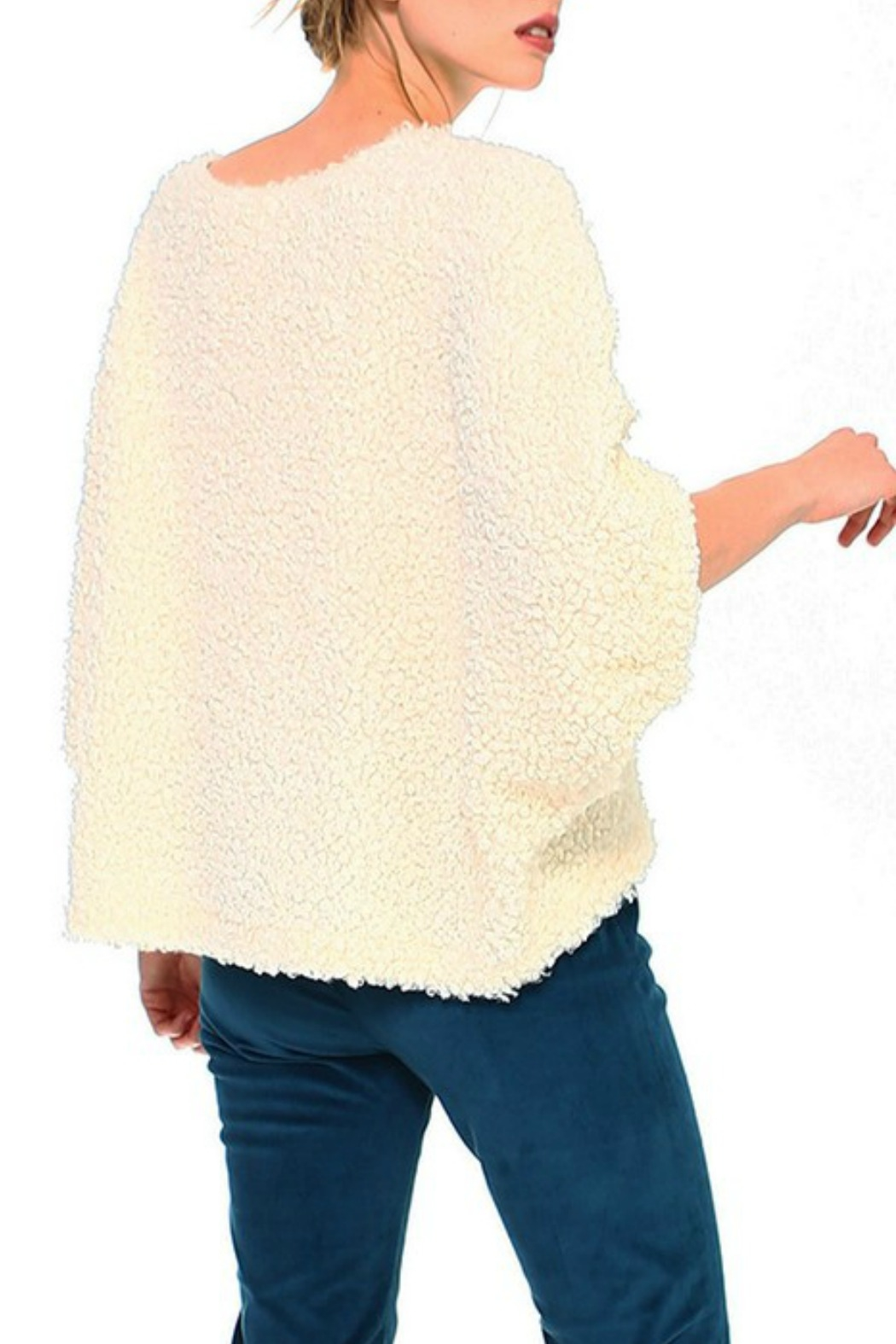 TCEC Fuzzy Dolman Sweater - Front Full Image
