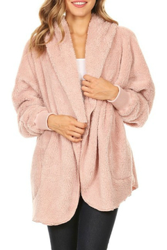 T Party Fuzzy Faux Fur Jacket - Product List Image