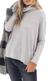 Dylan by True Grit Fuzzy Flecked Fleece Cowl Neck - Front cropped