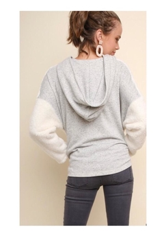 Umgee USA Fuzzy Halfzip Sweater - Alternate List Image