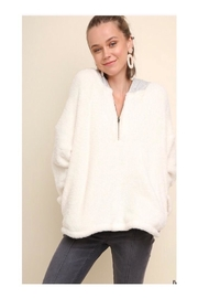 Umgee USA Fuzzy Halfzip Sweater - Product Mini Image
