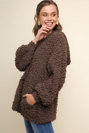 Umgee Fuzzy Hooded Sweater - Product Mini Image
