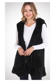 Polly & Esther Fuzzy Hooded Vest - Product Mini Image