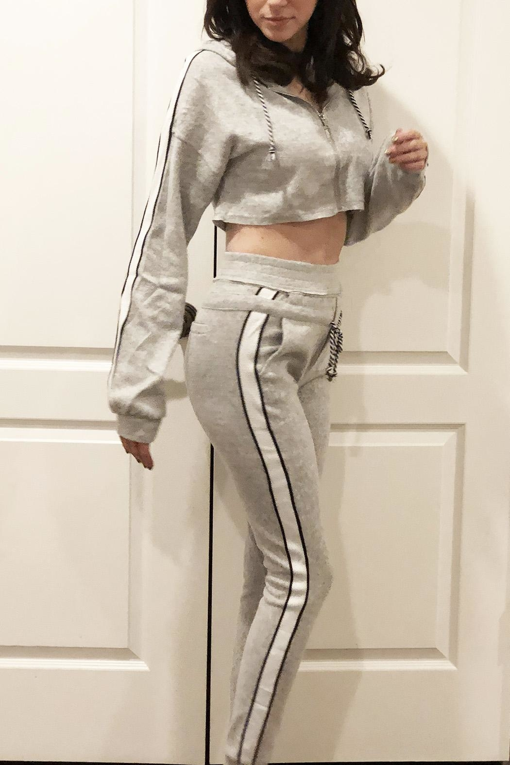 Hot & Delicious Fuzzy Jogger Set - Front Full Image