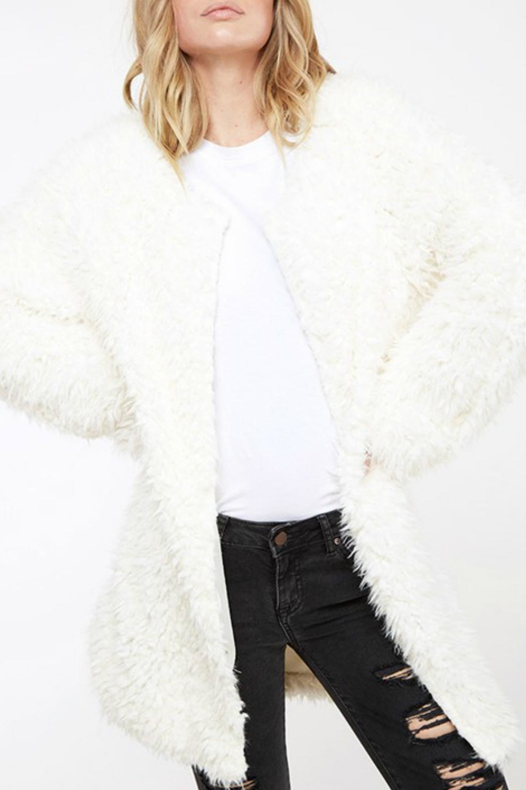 Fantastic Fawn Fuzzy Knit Coat - Front Full Image