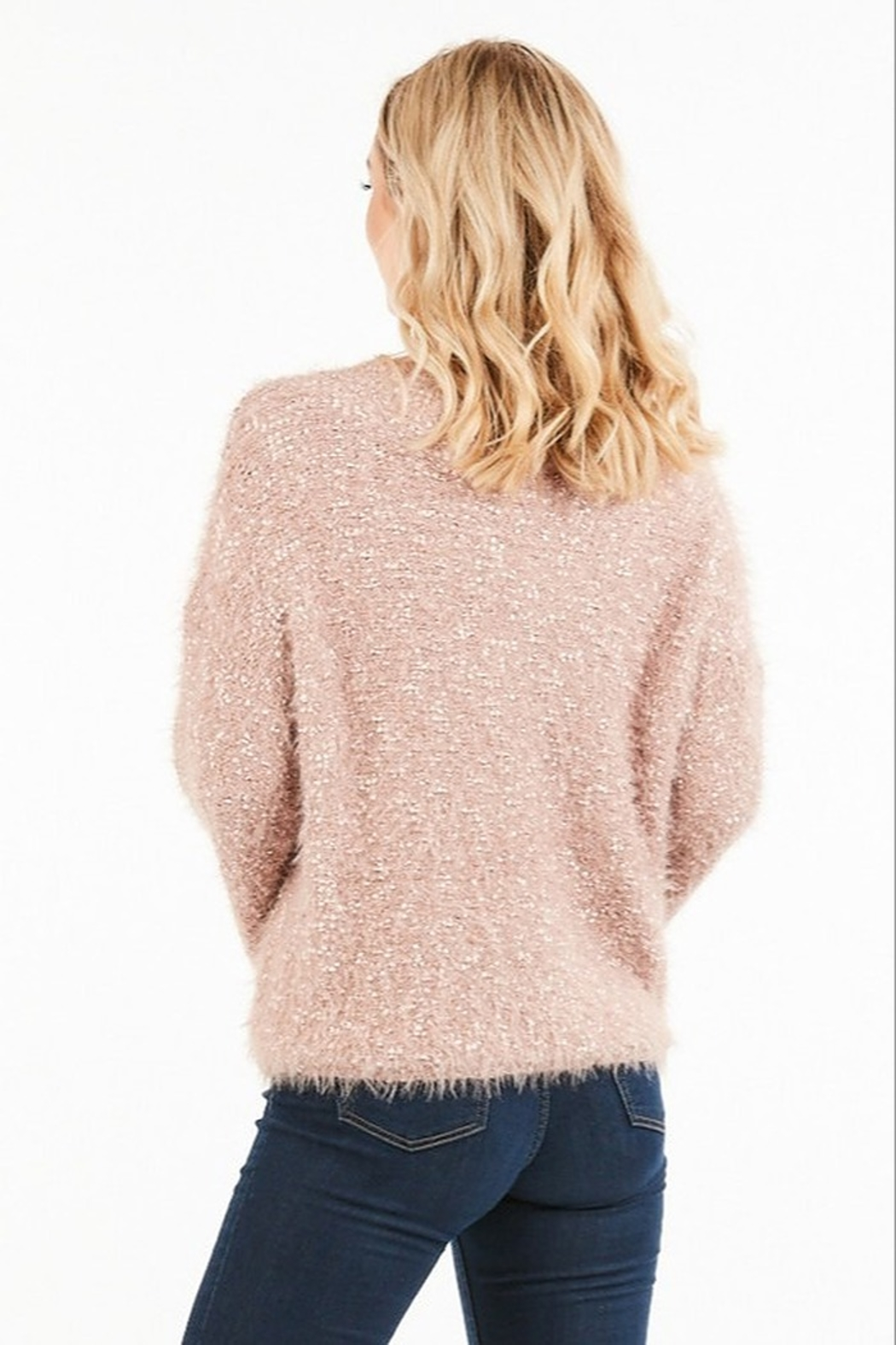 Very J  Fuzzy Knit Sweater - Front Full Image