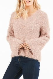 Very J  Fuzzy Knit Sweater - Front cropped