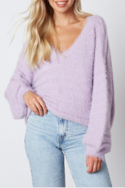 Cotton Candy Fuzzy Knit Sweater - Product Mini Image