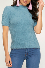 She & Sky  FUZZY KNIT SWEATER TOP - Product Mini Image