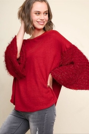 Umgee Fuzzy Knit Top - Product Mini Image